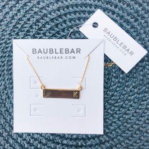Baublebar - K - Initial Bar Pendant - NEW!